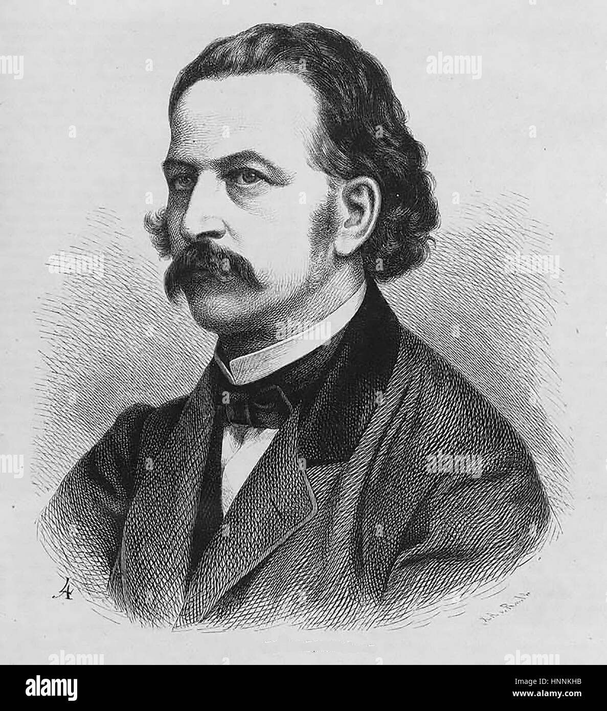 THEODOR FONTANE (1819-1898) German novelist and poet about 1860 Stock Photo