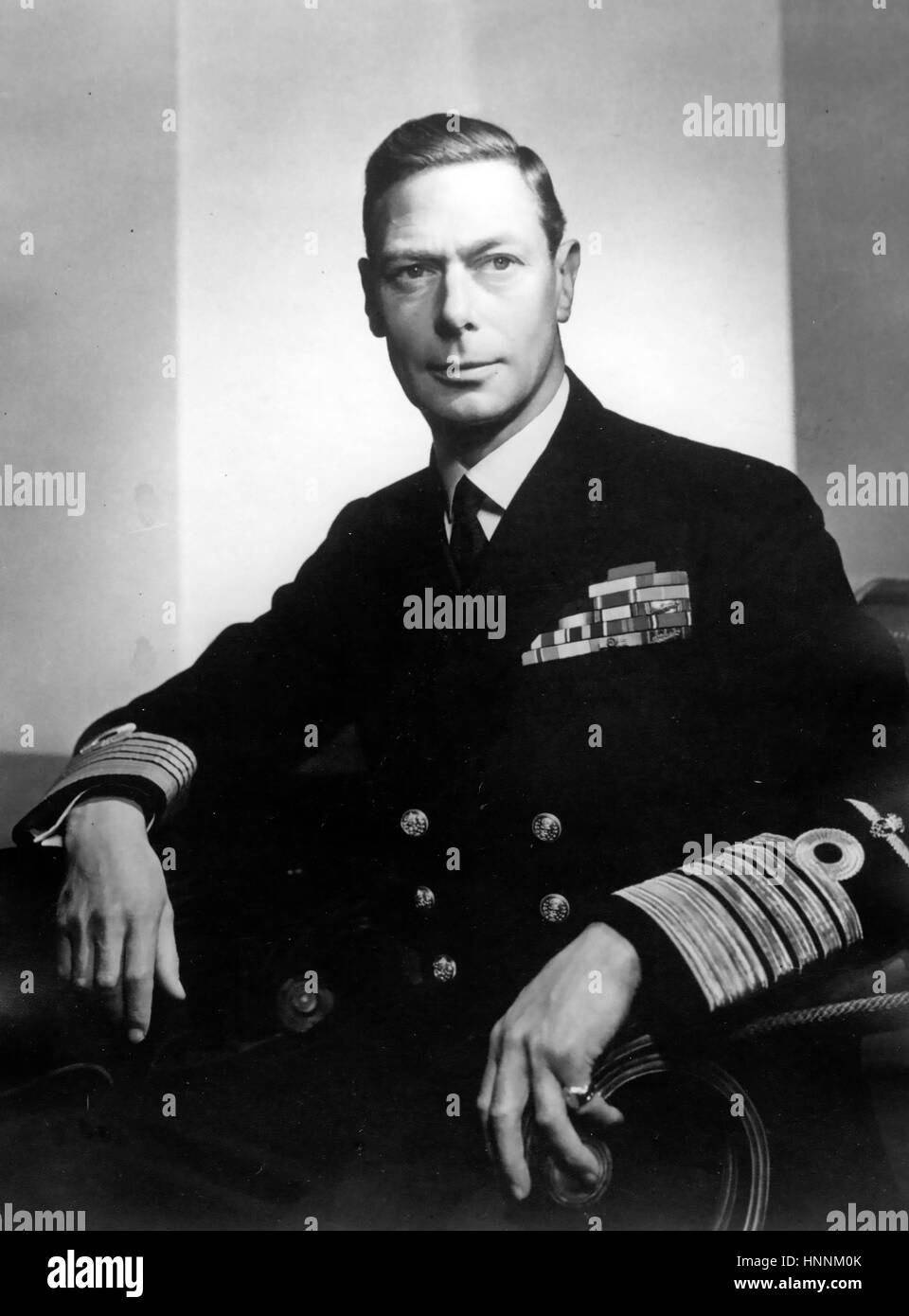 KING GEORGE VI (1895-1952) in the uniform of Admiral of the Fleet about 1945 - Stock Image