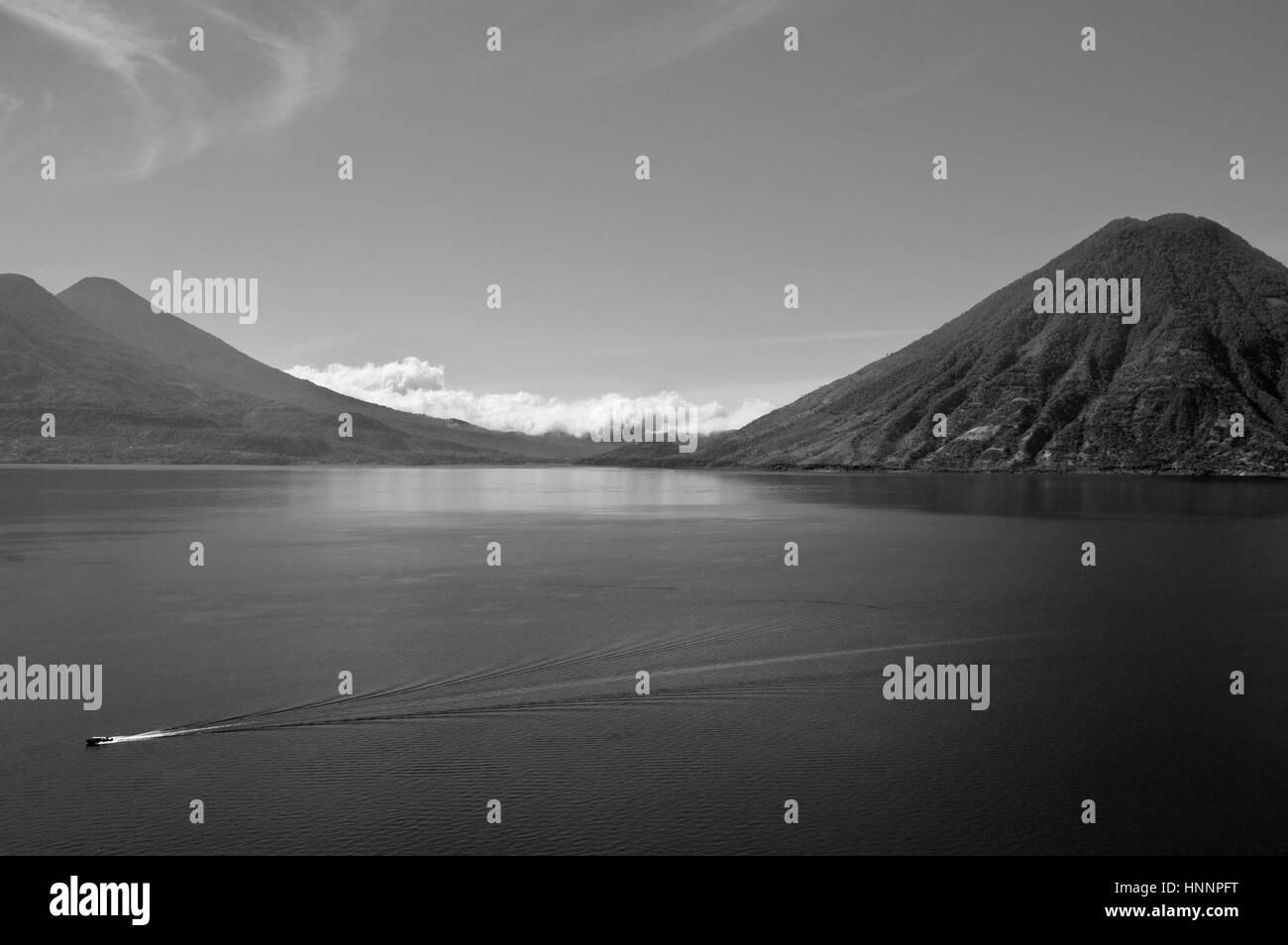 Scenes in Atitlan Lake, Guatemala Stock Photo