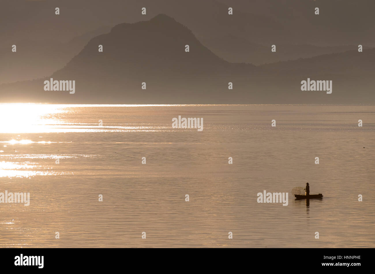Scenes in Atitlan Lake, Guatemala - Stock Image