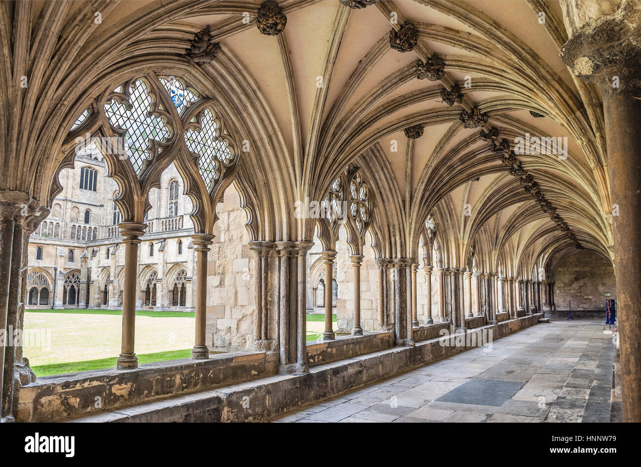Hallway at Norwich Cathedral, a Church of England cathedral in Norwich, Norfolk, England, dedicated to the Holy - Stock Image