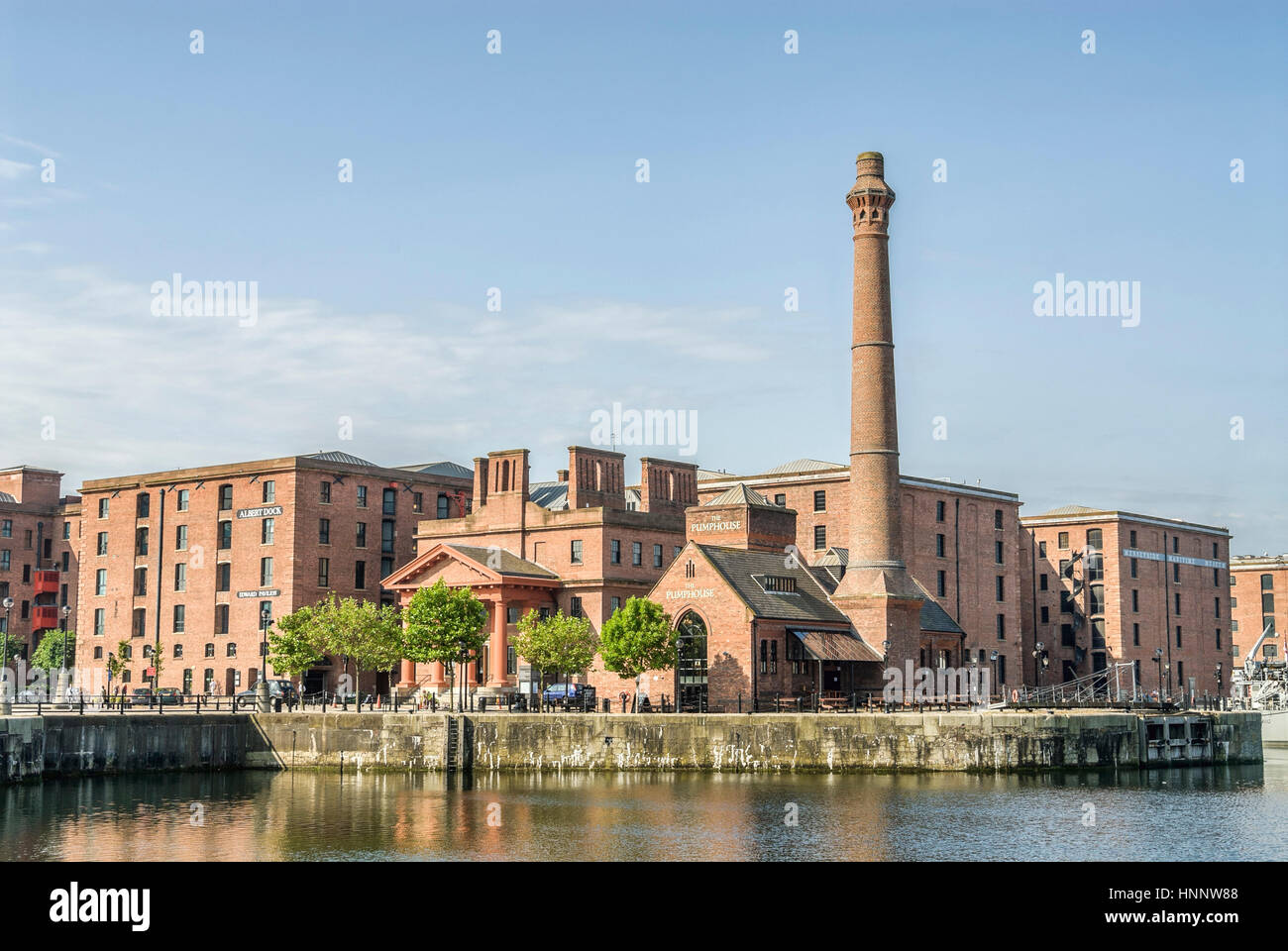 The Pumphouse at the Albert Dock, a complex of dock buildings and warehouses in Liverpool, England. Designed by Stock Photo
