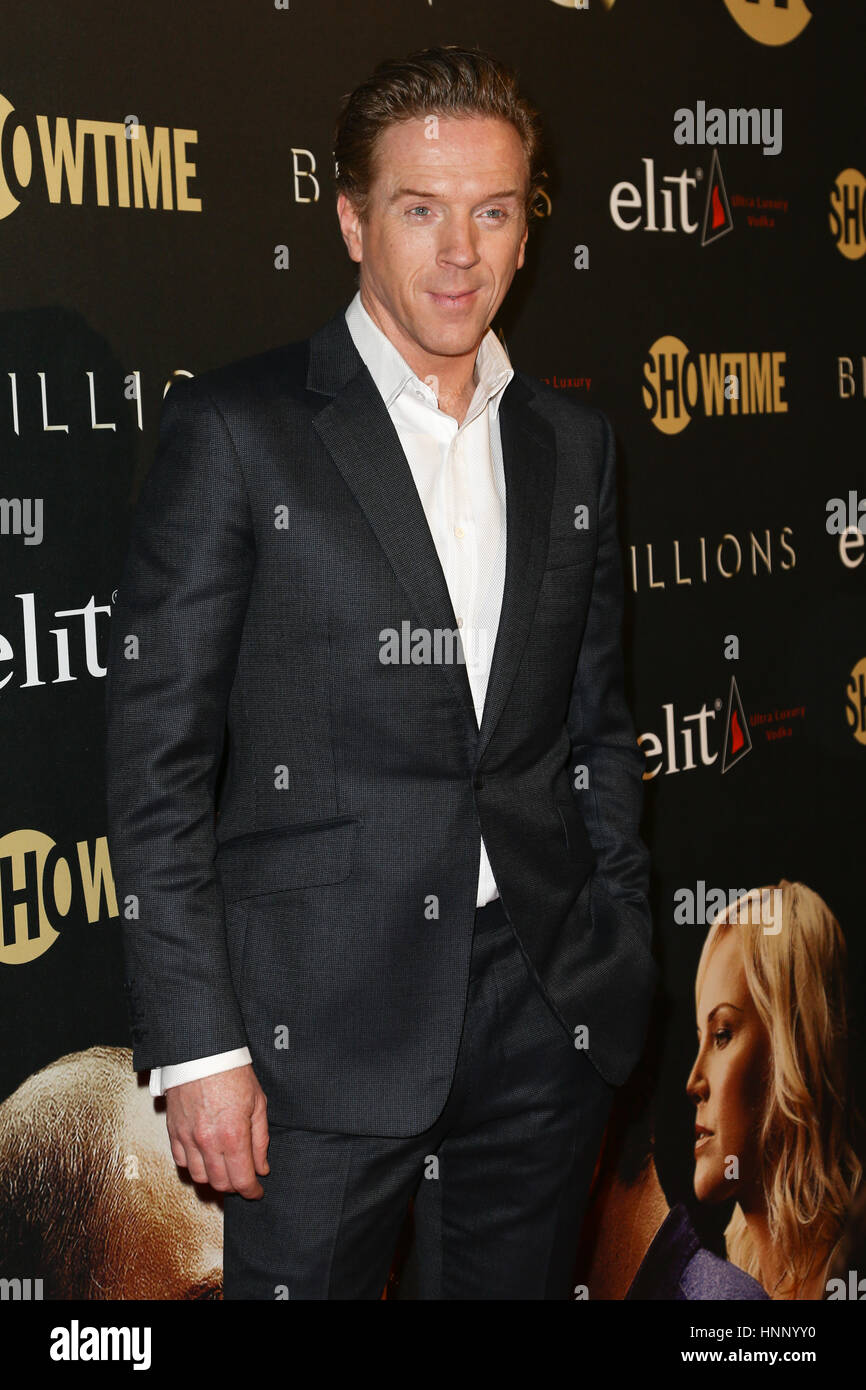 Actor Damian Lewis attends the 'Billions' Season Two Premiere at Cipriani's on February 13, 2017 in - Stock Image