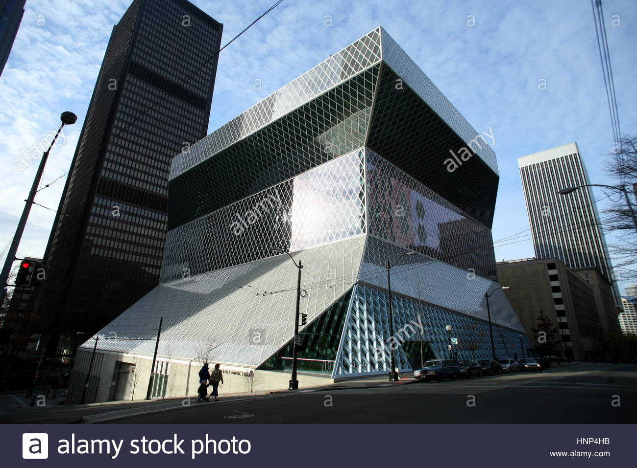 The Rem Koolhaas-designed Seattle Central Library. - Stock Image