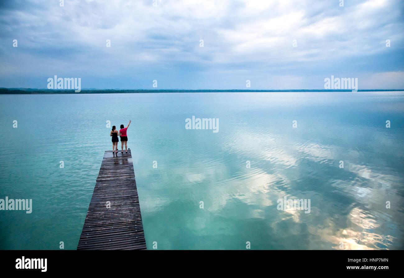 Peten lake in Guatemala - Stock Image