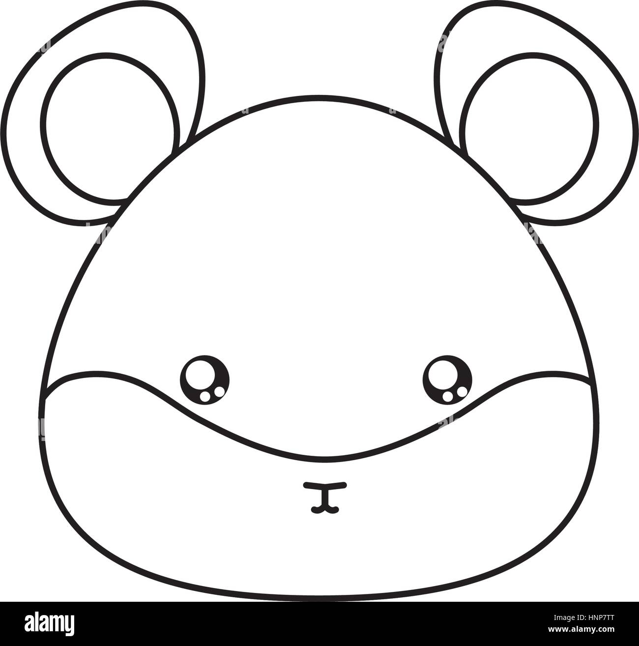 Hamster Drawing Face - Stock Vector