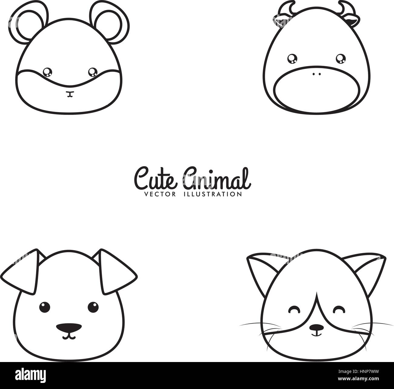Animals drawing face