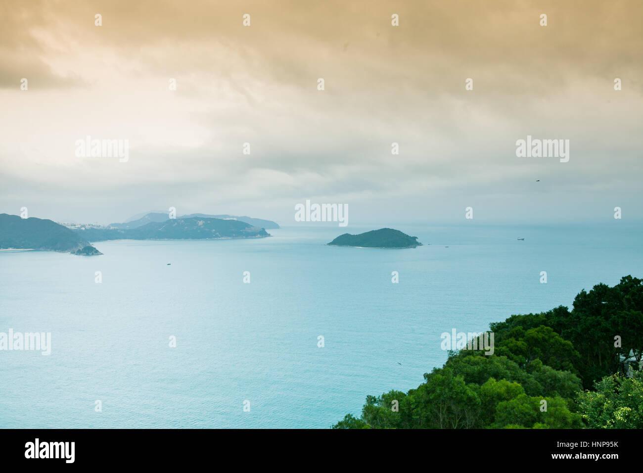 South China Sea landscape, Hong Kong. - Stock Image