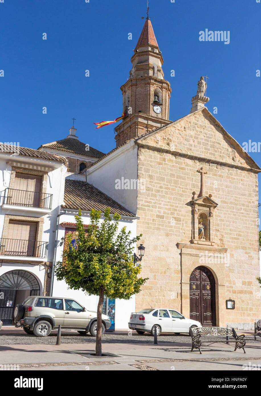 Benamejí, Cordoba Province, Andalusia, Spain. Church of the Immaculate Conception, Iglesia de la Inmaculada - Stock Image
