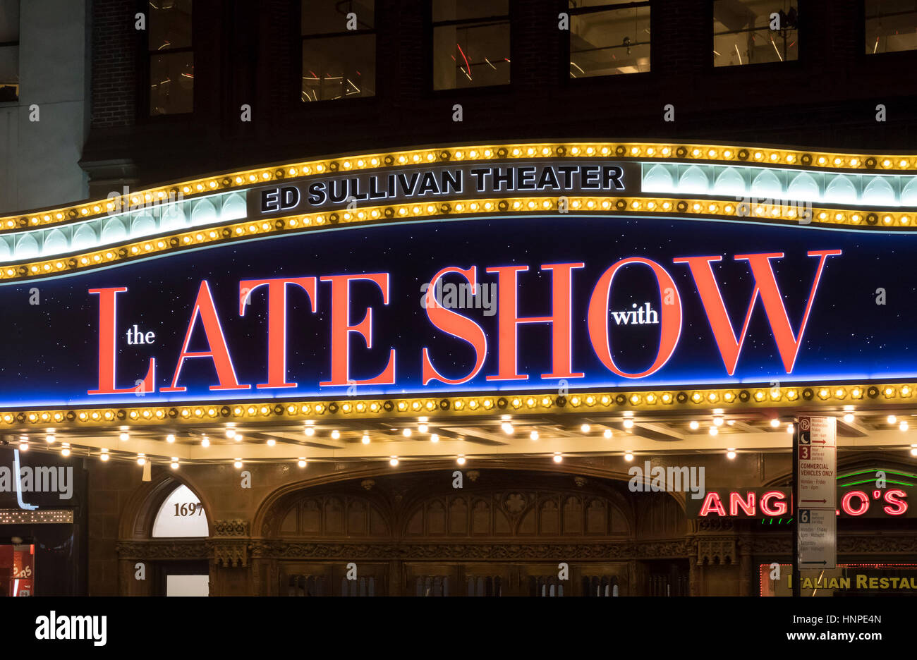 The Late Show with Stephen Colbert at the Ed Sullivan Theatre in New York City - Stock Image