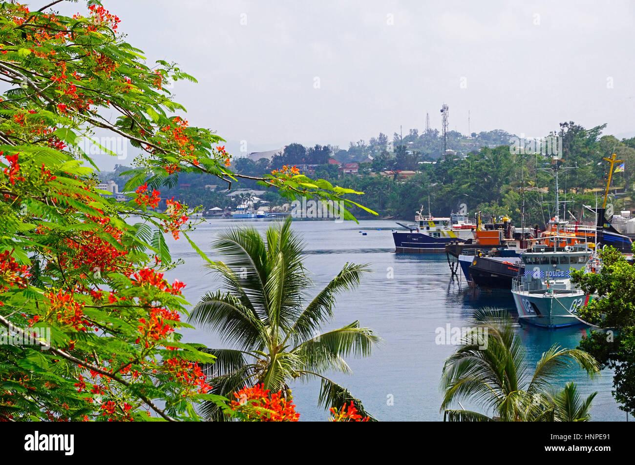 Harbor at Port Vila, Vanuatu. - Stock Image