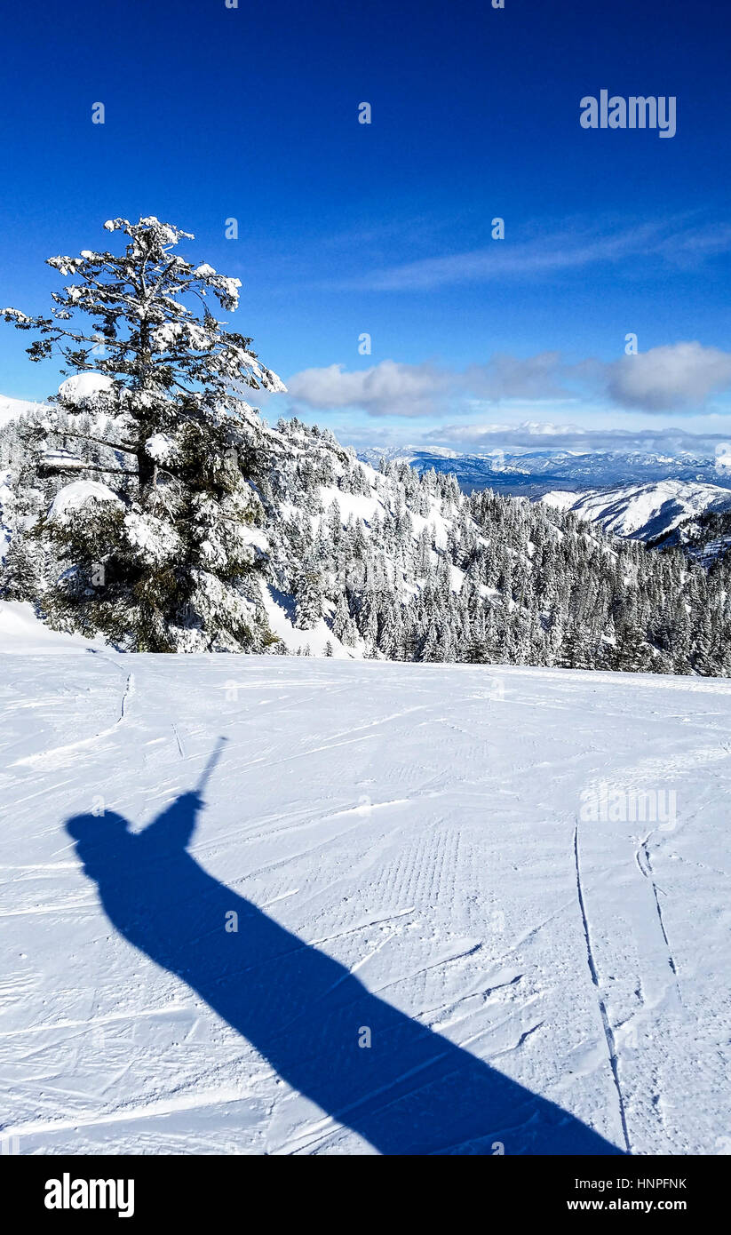 view from the top at bogus basin, the ski resort outside boise, id