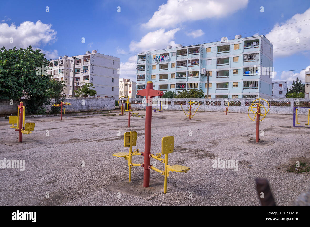 Poor residential area in Trinidad, Cuba - Stock Image