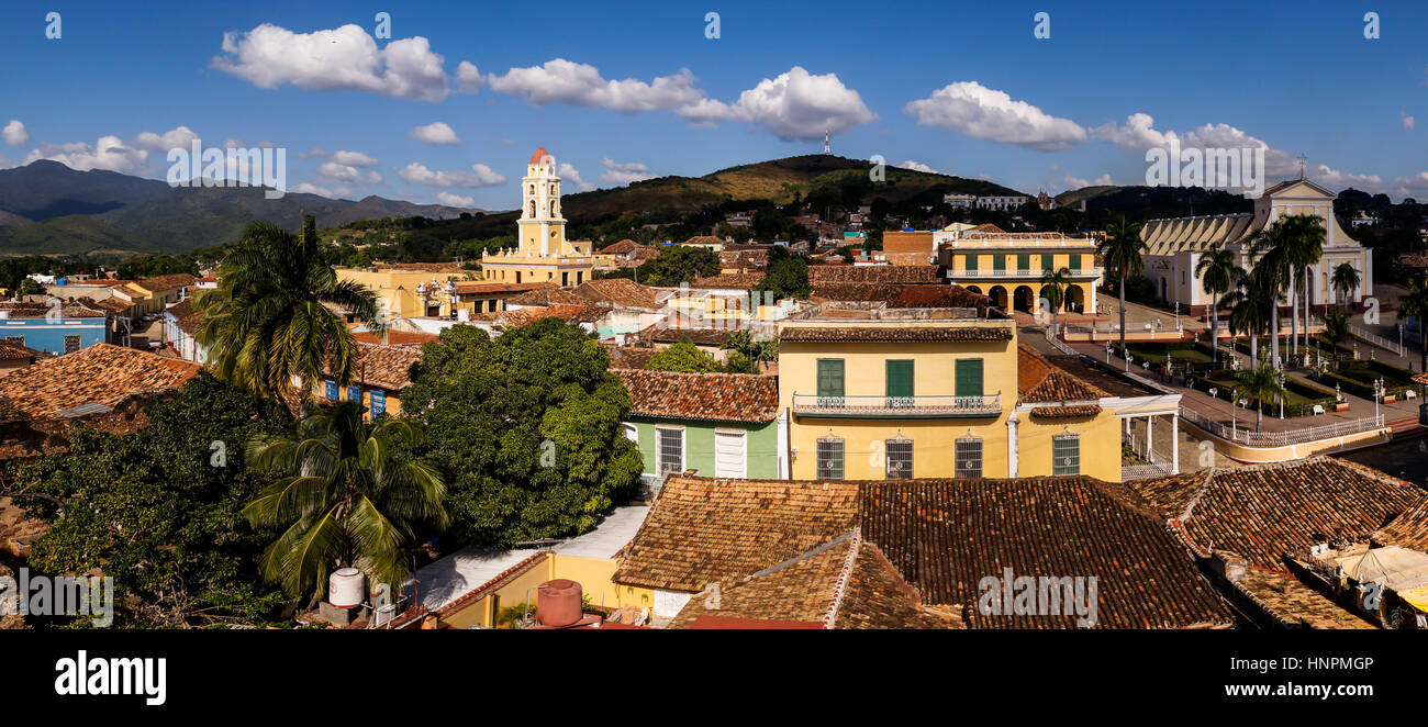 A view of Trinidad, Cuba - Stock Image