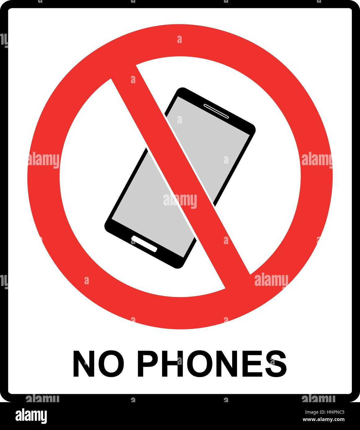 No Cell Phone Sign Mobile Phone Ringer Volume Mute Sign No Stock