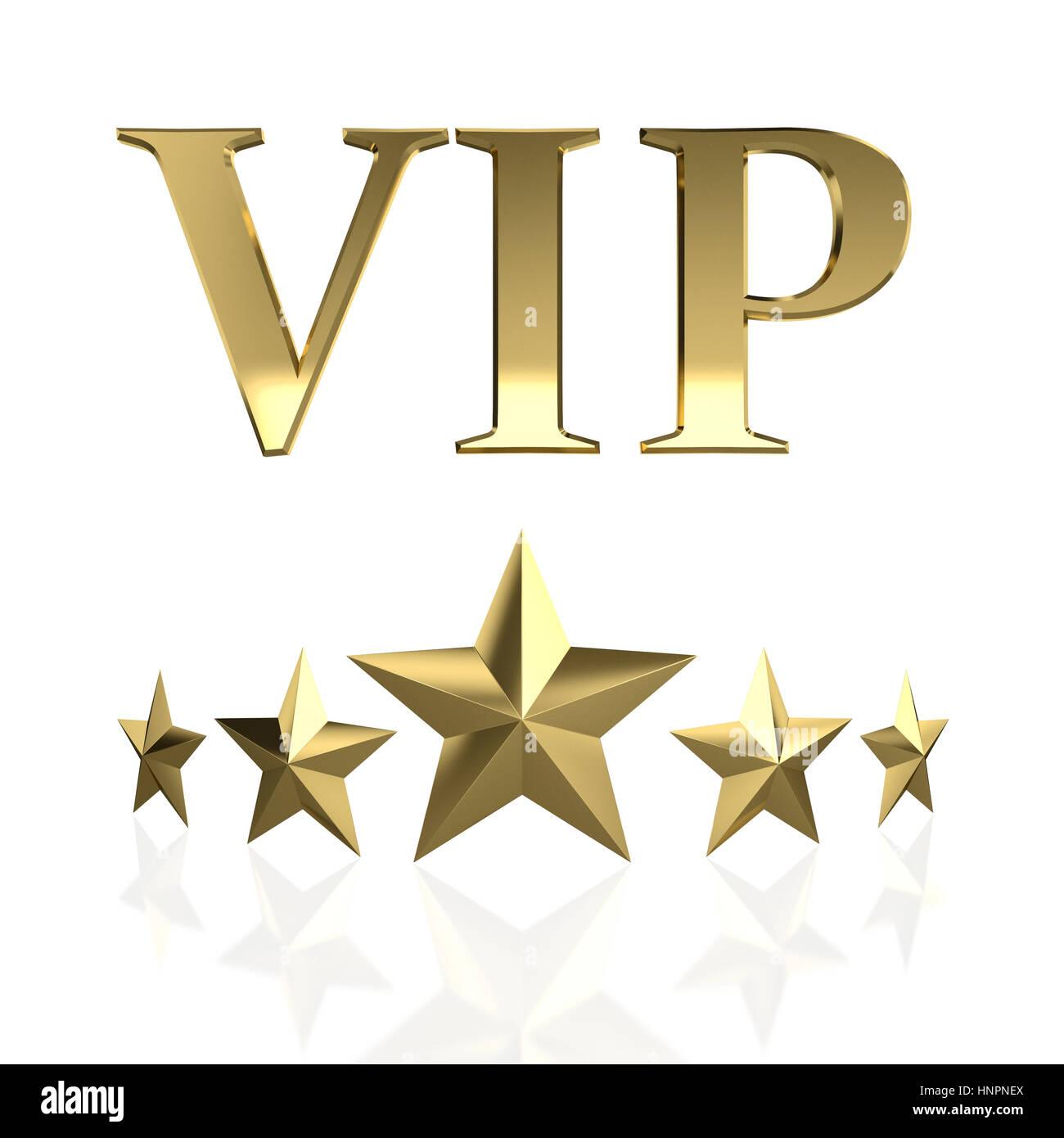 vip golden status 3d rendering image - Stock Image