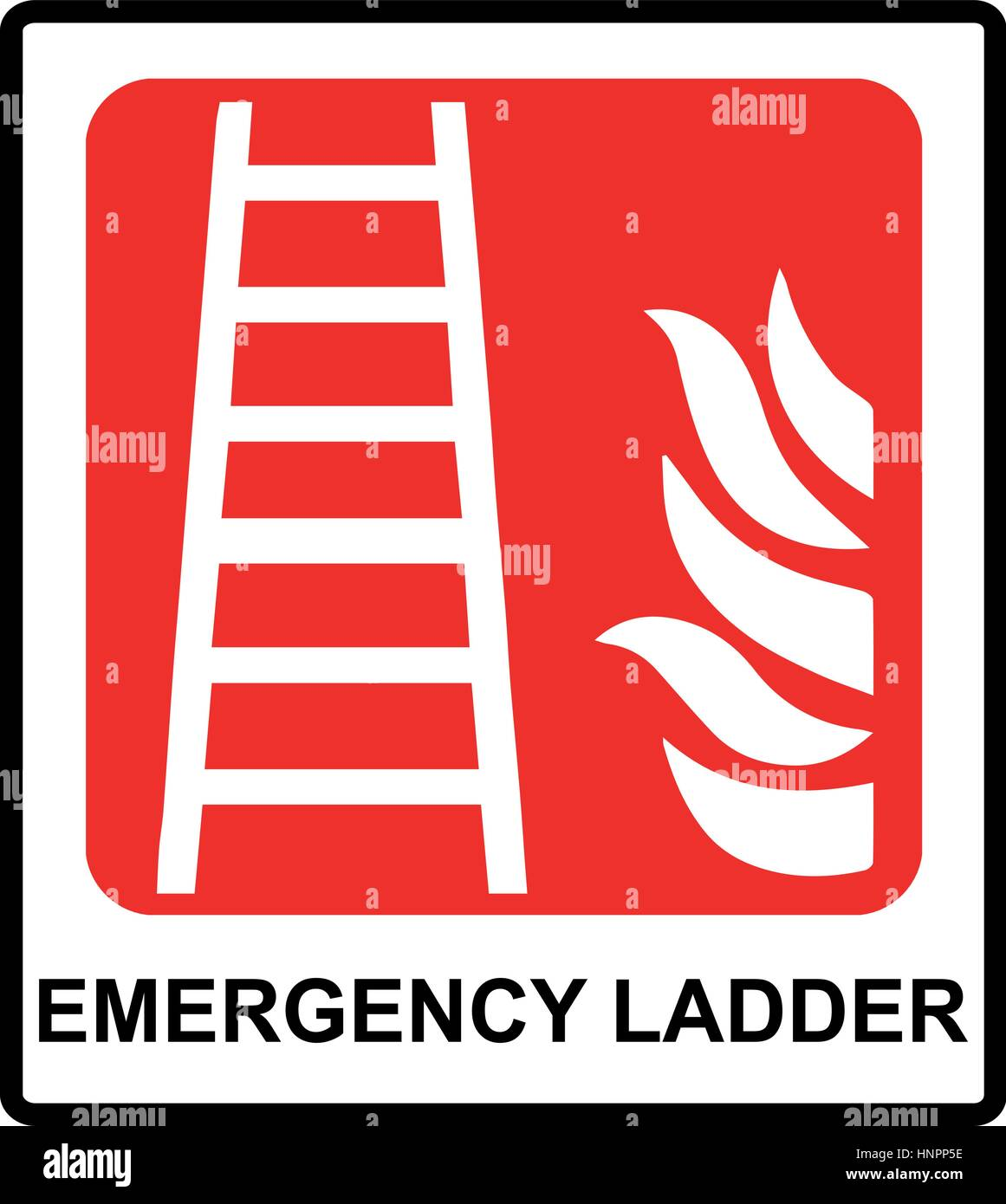 Emergency Route Sign Stock Vector Images Alamy