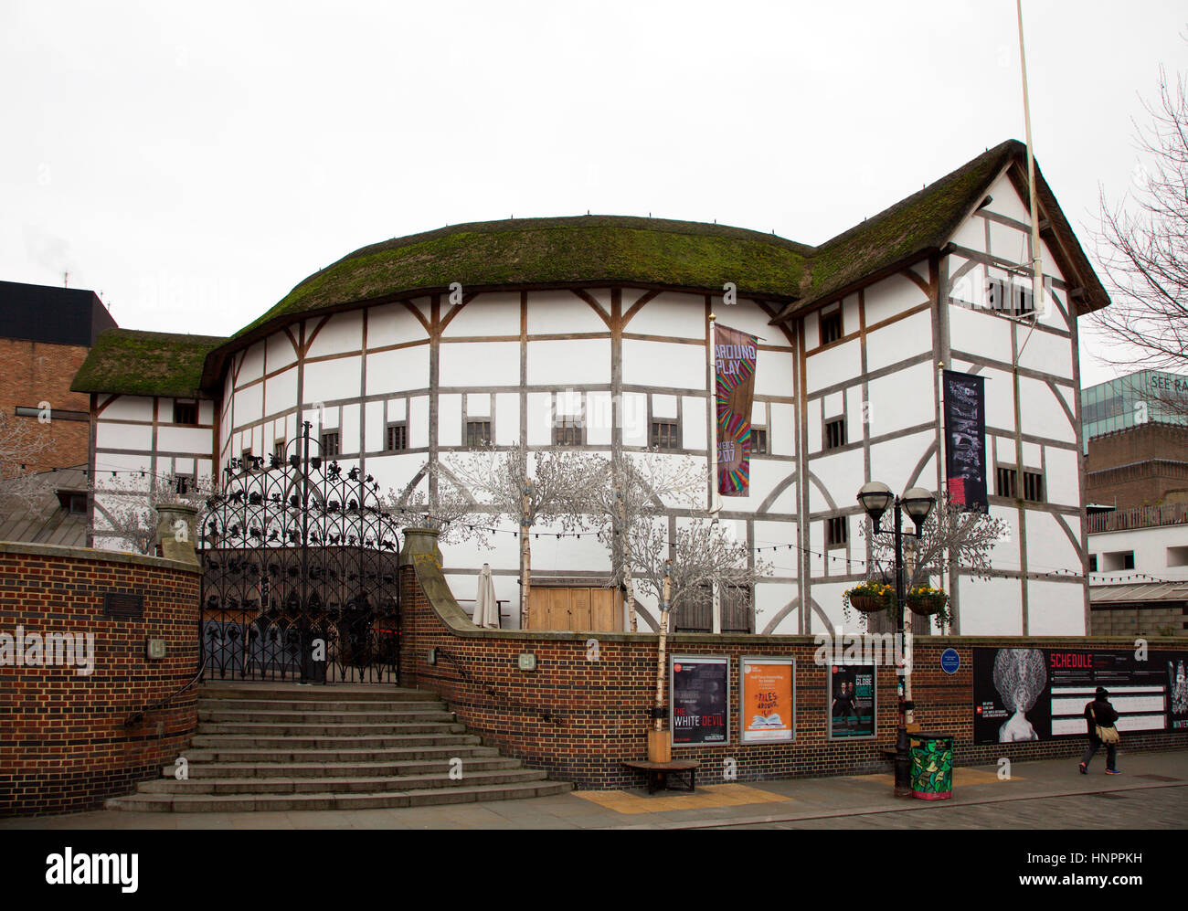 Globe Theatre Bankside London - Stock Image