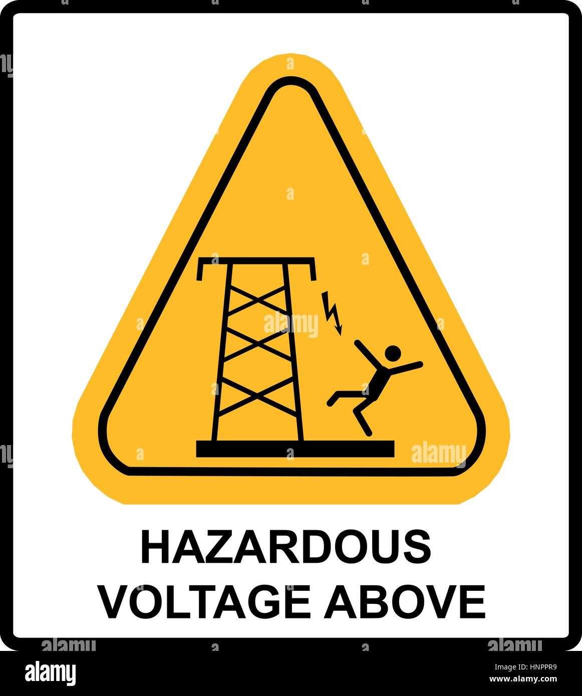Hazardous Voltage Above Overhead Power Lines Or Electrical Safety