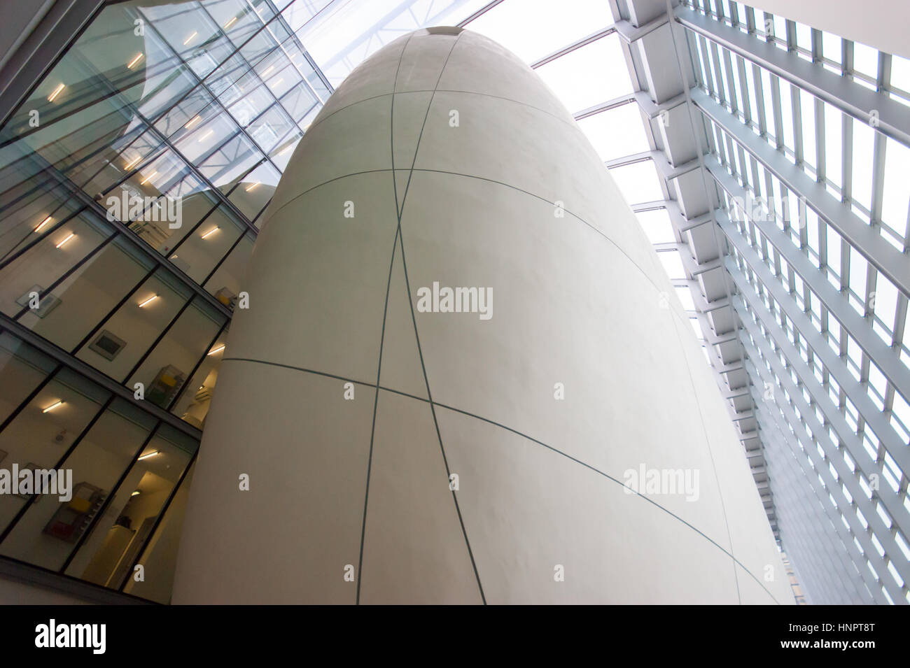 The Cocoon in the Darwin Centre of the Natural History Museum in London designed by C.F. Møller Architects, - Stock Image