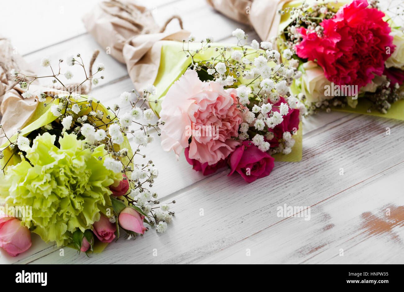Mini Flower Bouquet Roses Carnation Stock Photos & Mini Flower ...