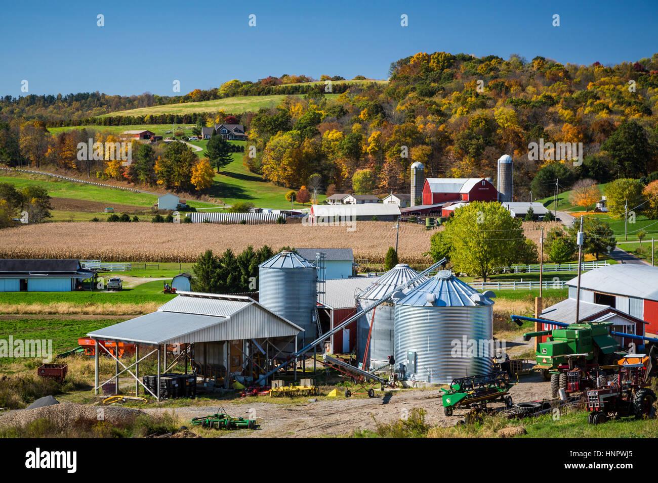 A farm in Coshocton County, Ohio, USA. - Stock Image