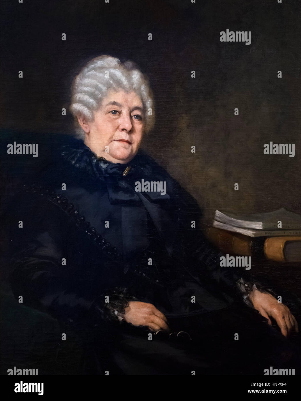 Elizabeth Cady Stanton (1815-1902), an American suffragist, social activist, abolitionist, and leading figure of - Stock Image