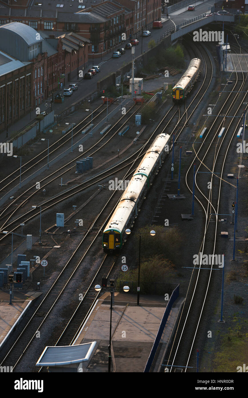 A train puling in to Snow Hill station. Birmingham, West Midlands, England, UK Stock Photo