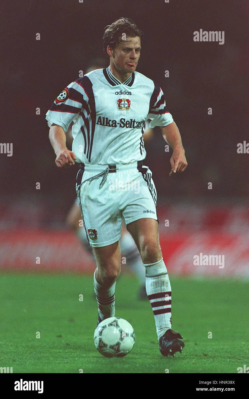 CHRISTIAN WORNS TSV BAYER O4 LEVERKUSEN 04 November 1996 - Stock Image
