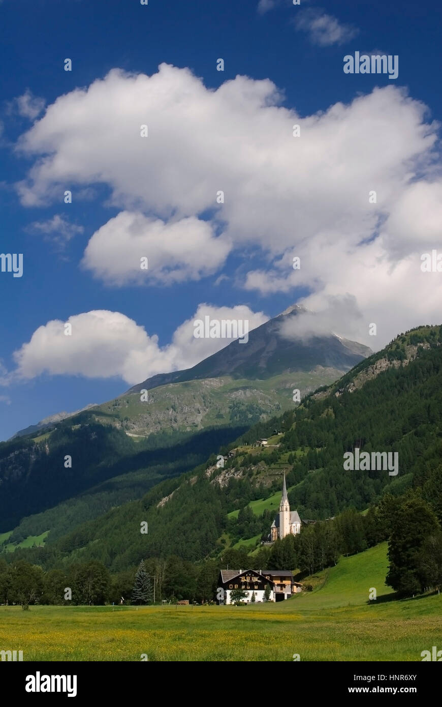 National park high tanners, saint's blood, Austria, Nationalpark Hohe Tauern, Heiligenblut, Oesterreich - Stock Image