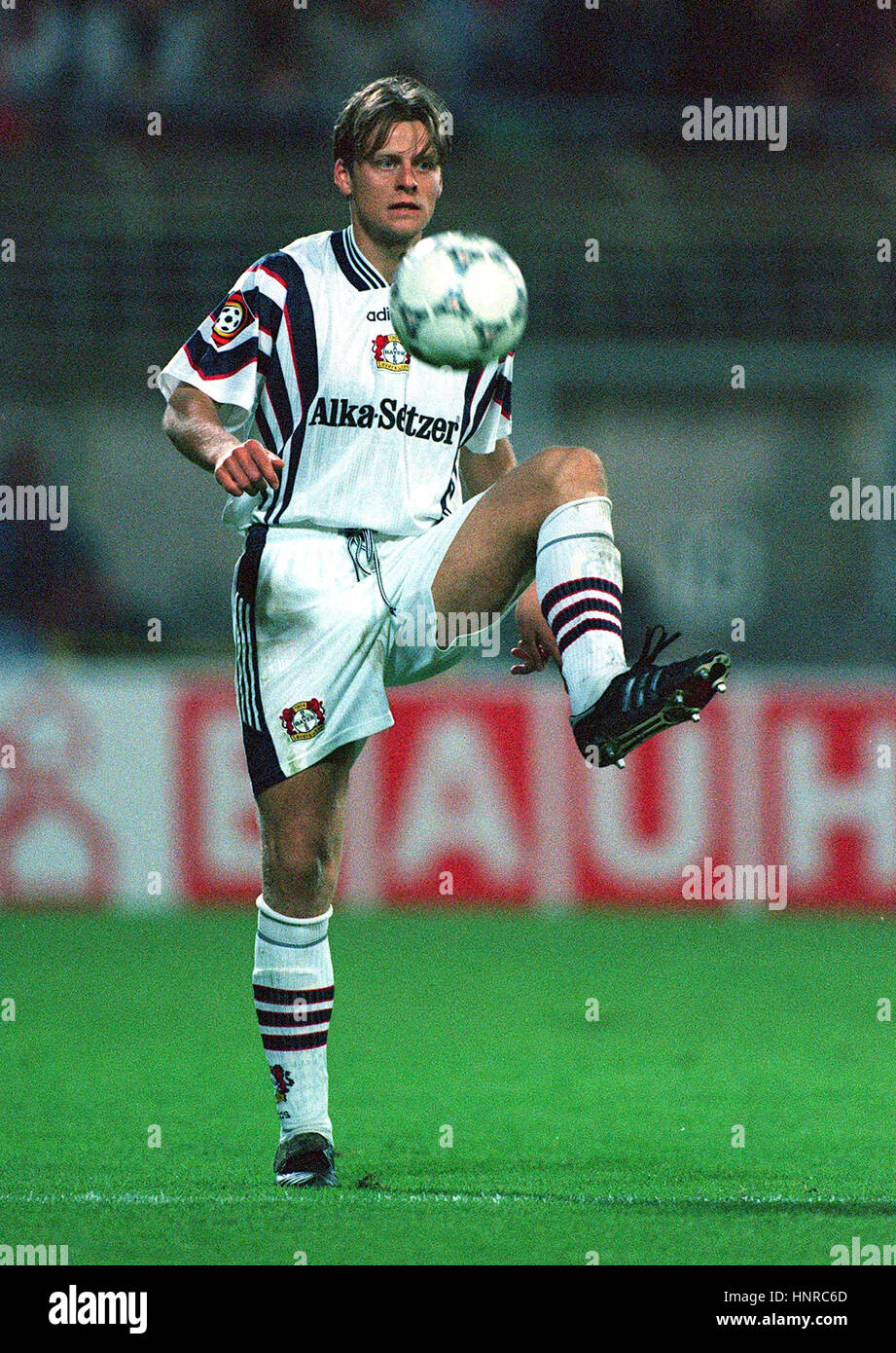 CHRISTIAN WORNS TSV BAYER 04 LEVERKUSEN 04 November 1996 - Stock Image