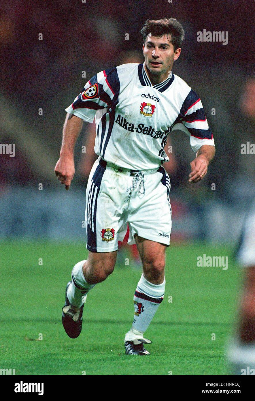 JAN HEINTZE TSV BAYER 04 LEVERKUSEN 04 November 1996 - Stock Image
