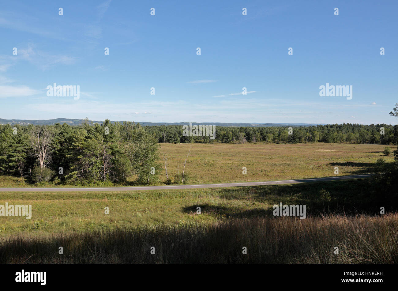 The Freeman Farm Outlook looking SE from the American lines towards the main battlefield, Saratoga National Historical - Stock Image