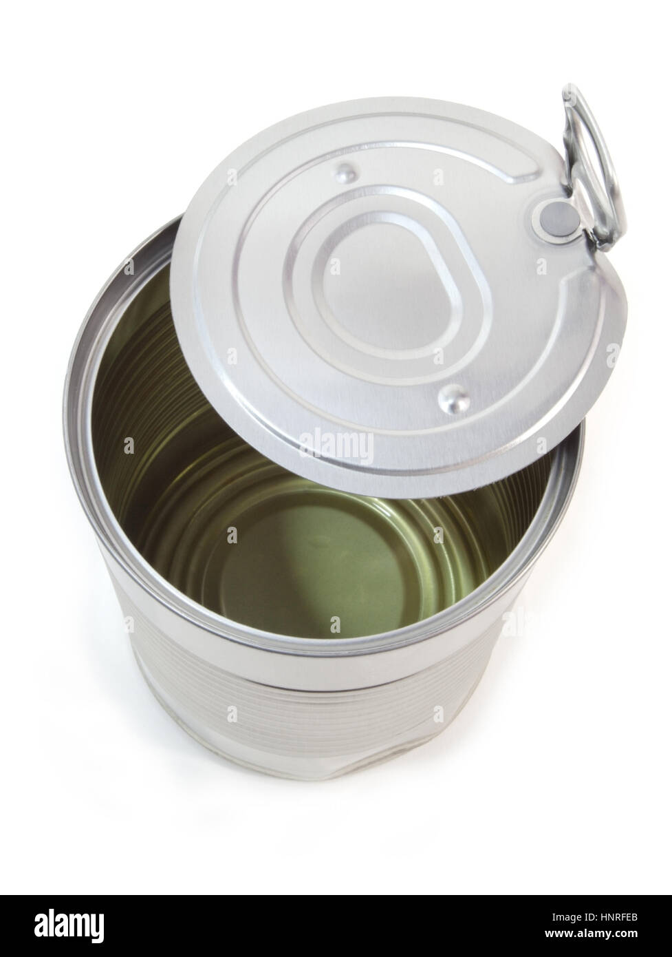 Metal can with pull tab top. - Stock Image