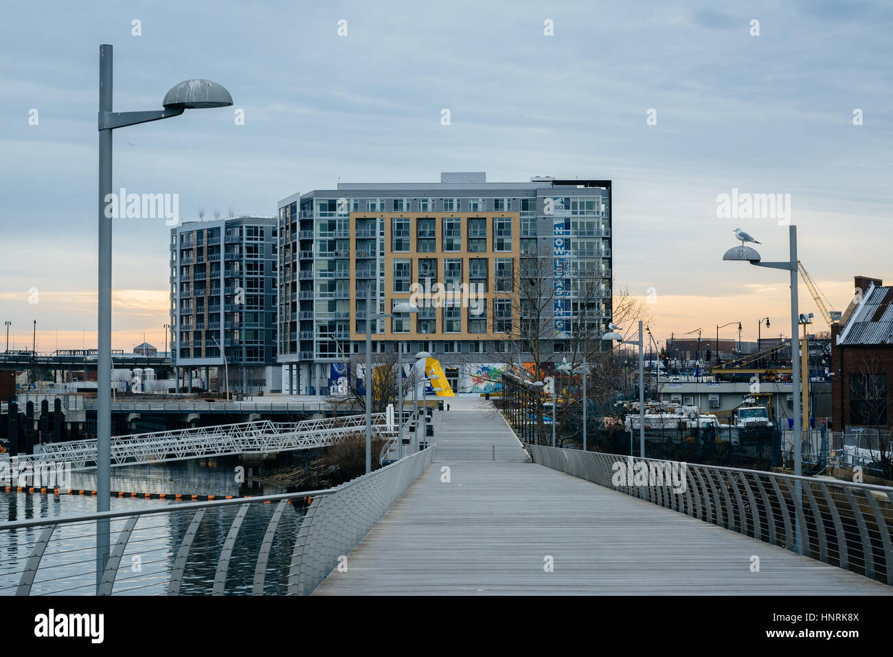 The Anacostia Riverwalk, at The Yards Park, in Washington, DC. Stock Photo