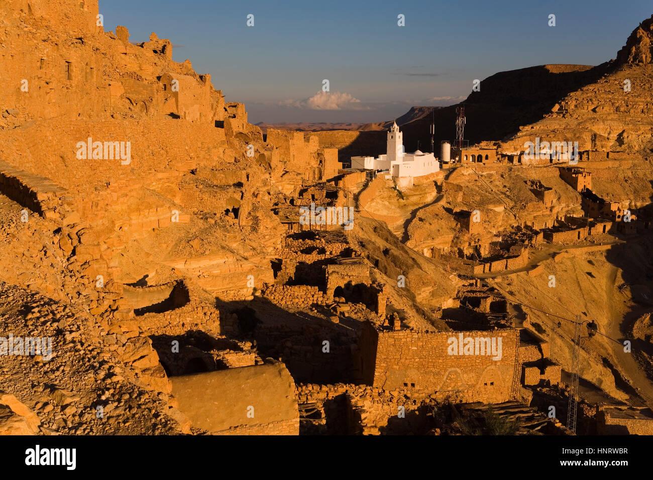 Tunisia.Chenini Stock Photo