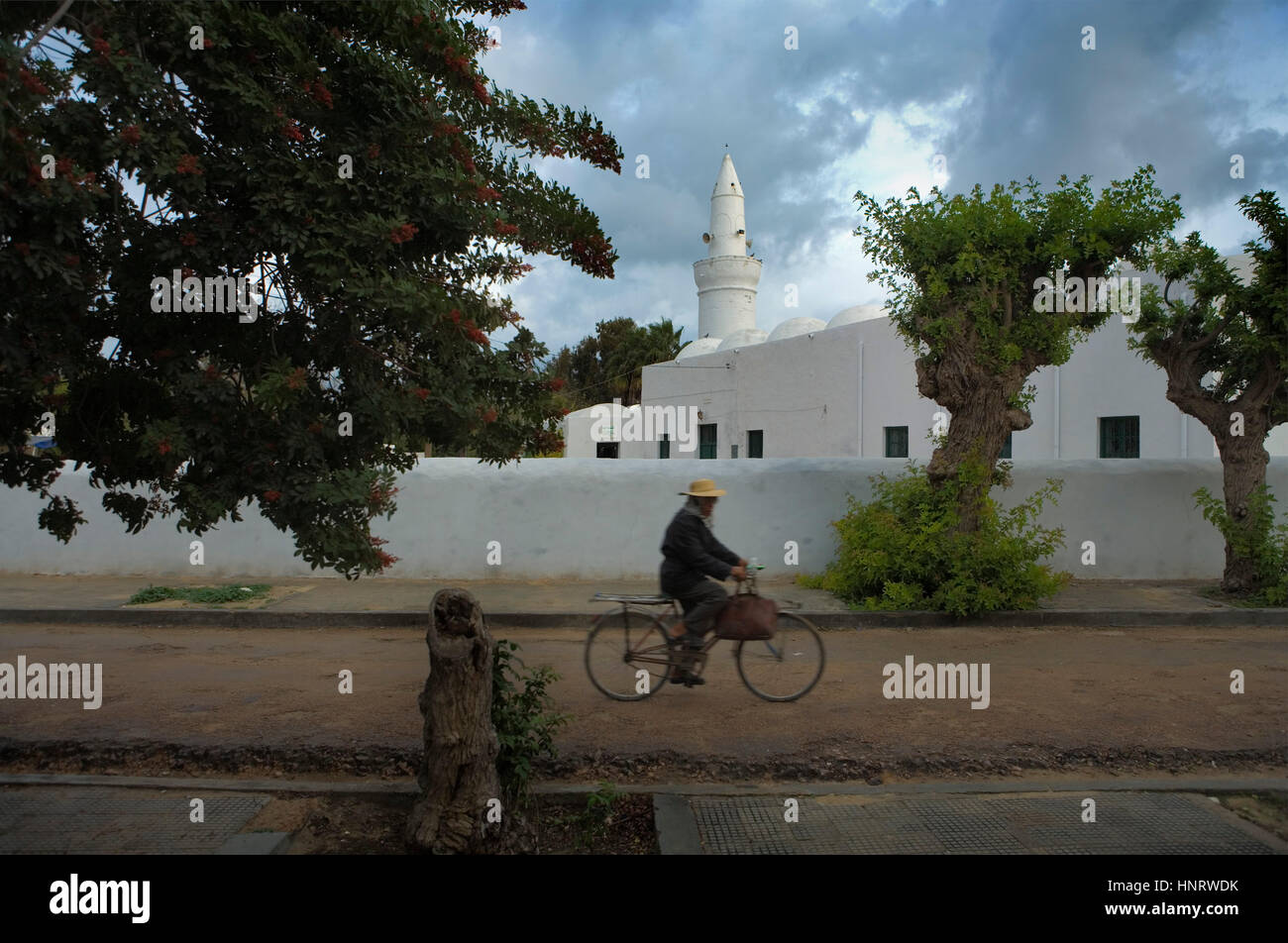 Tunisia.Djerba.Houmt Souk.Turkish mosque Stock Photo