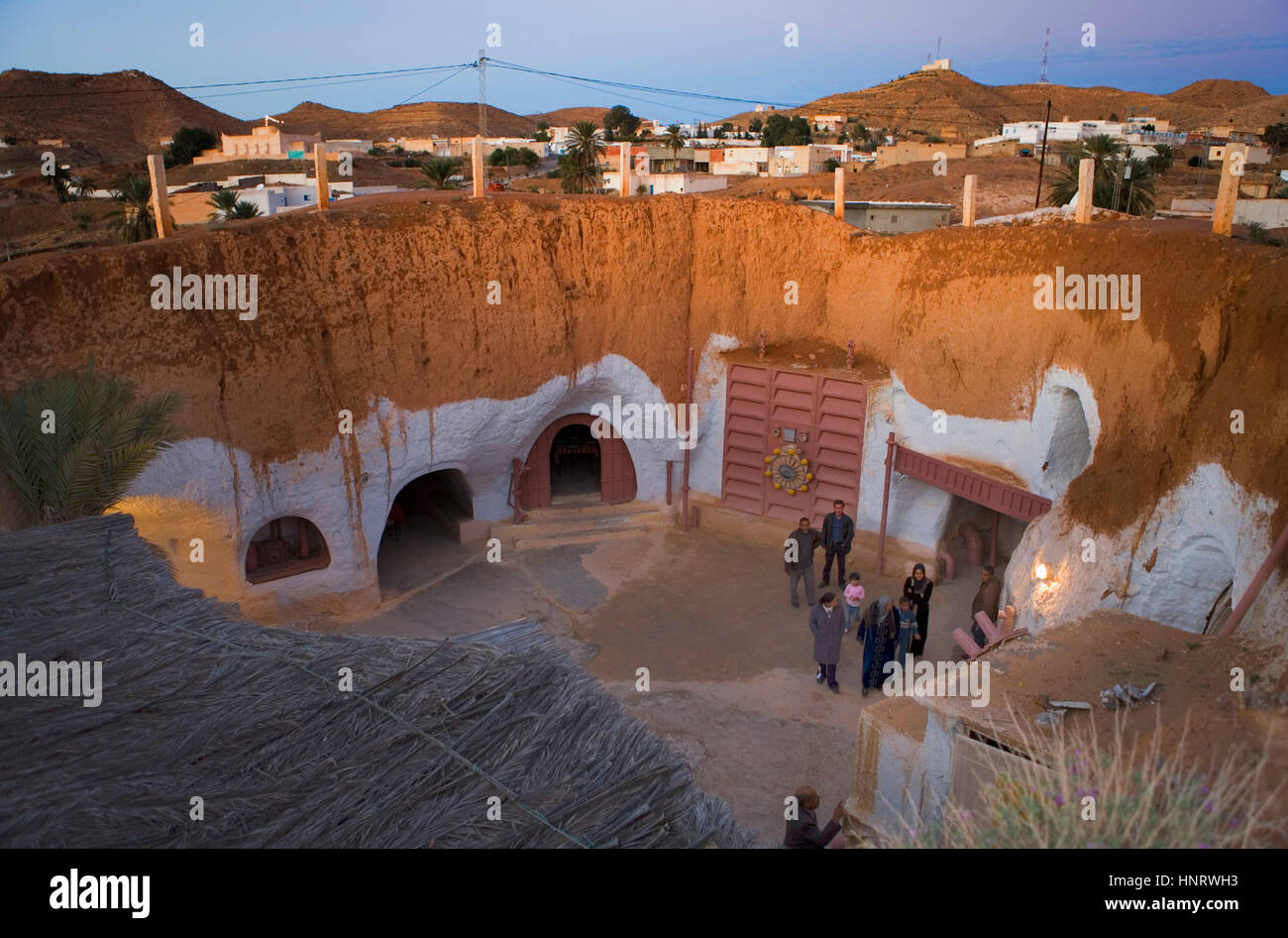 Tunisia.Matmata. Troglodyte House. Hotel Sidi Idris.  Original decoration  of the movie Star Wars Stock Photo