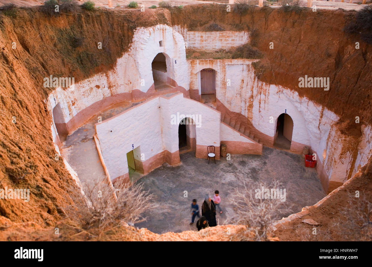 Tunisia.Matmata. Troglodyte House Stock Photo