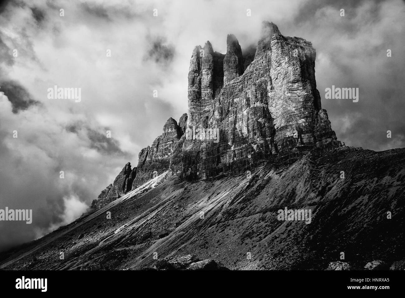 Dolomites mountain panorama - Stock Image