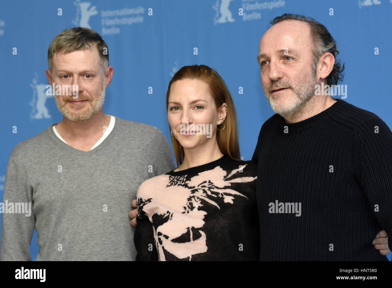 Berlin, Germany. 16th Feb, 2017. Andreas Lust, Katharina Schüttler and Karl Markovics during the 'Kongens - Stock Image