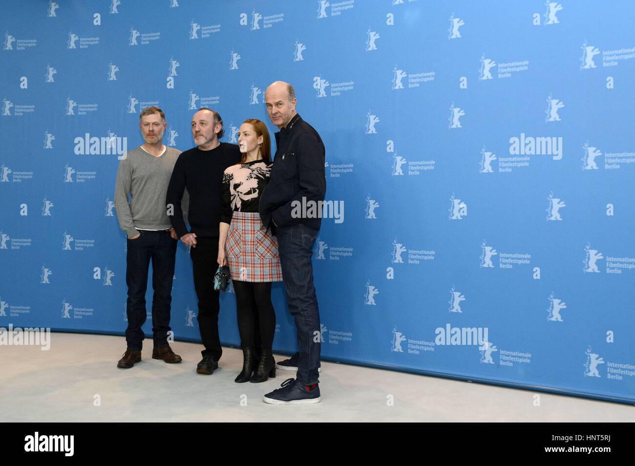 Berlin, Germany. 16th Feb, 2017. Andreas Lust, Karl Markovics, Katharina Schüttler and Erik Poppe during the - Stock Image