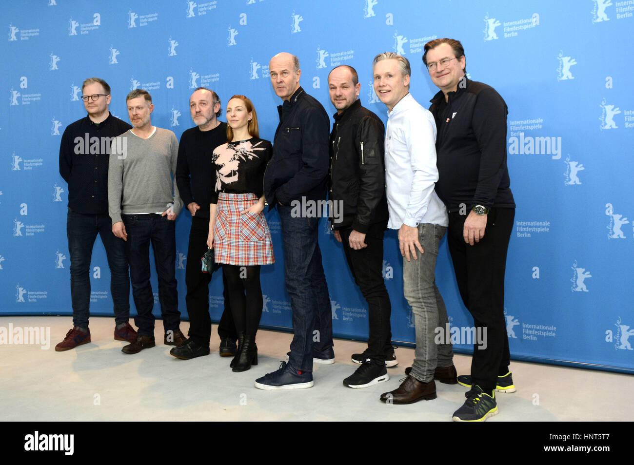 Berlin, Germany. 16th Feb, 2017. Jan Trygve Røyneland, Andreas Lust, Karl Markovics, Katharina Schüttler, - Stock Image