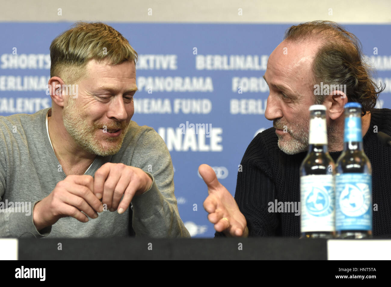 Berlin, Germany. 16th Feb, 2017. Andreas Lust and Karl Markovics during the 'Kongens Nei/The King's Choice' - Stock Image