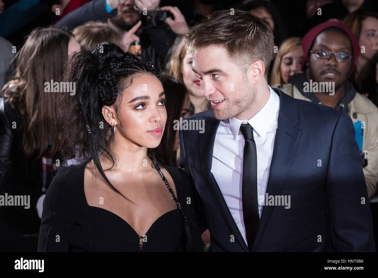 London, UK. 16th Feb, 2017. FKA Twigs and Robert Pattinson. UK Premiere in celebration of Bazaar Best of British - Stock Image