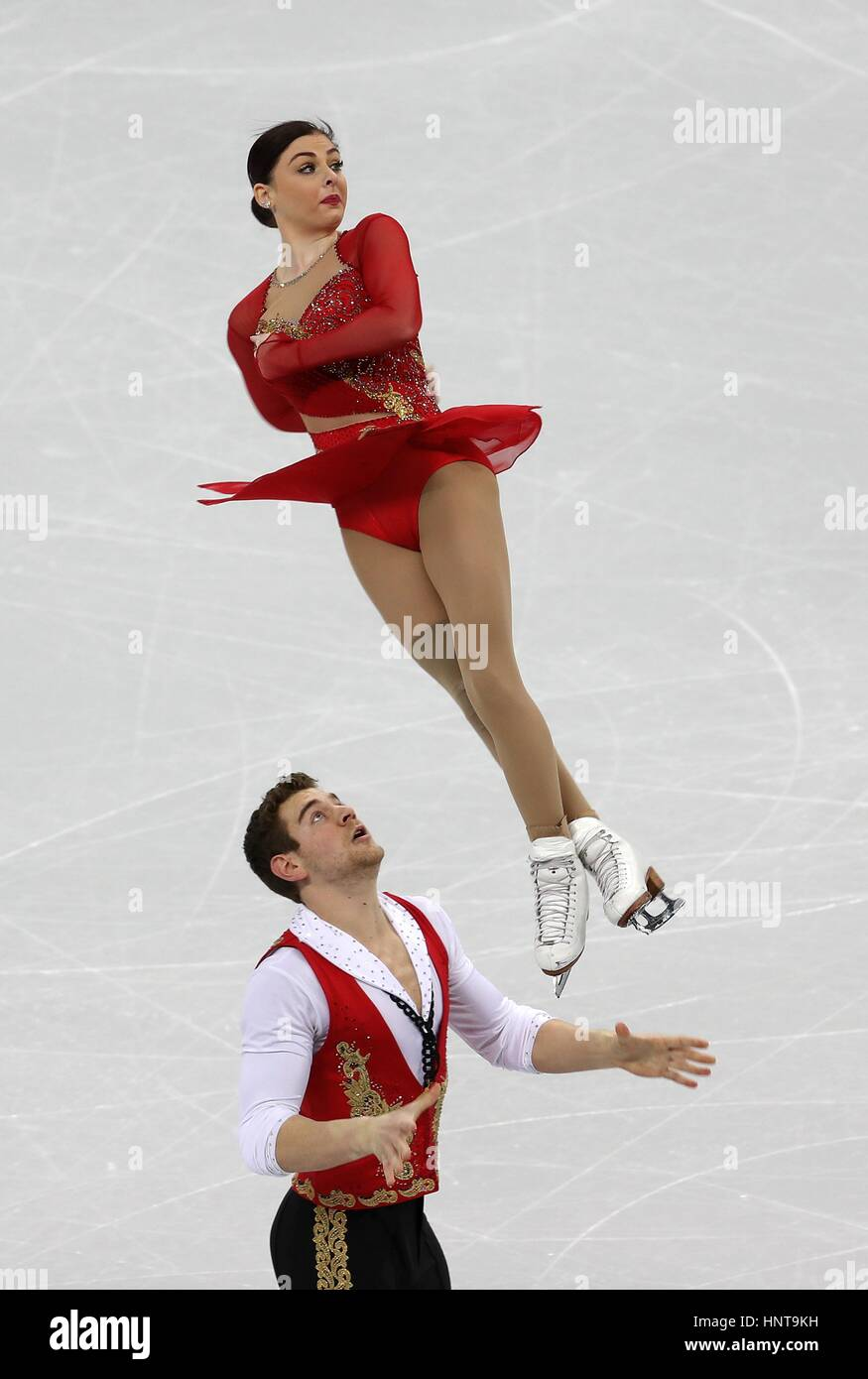 Haven Denney and Brandon Frazier of United States compete in the Pairs Short Program during ISU Four Continents - Stock Image