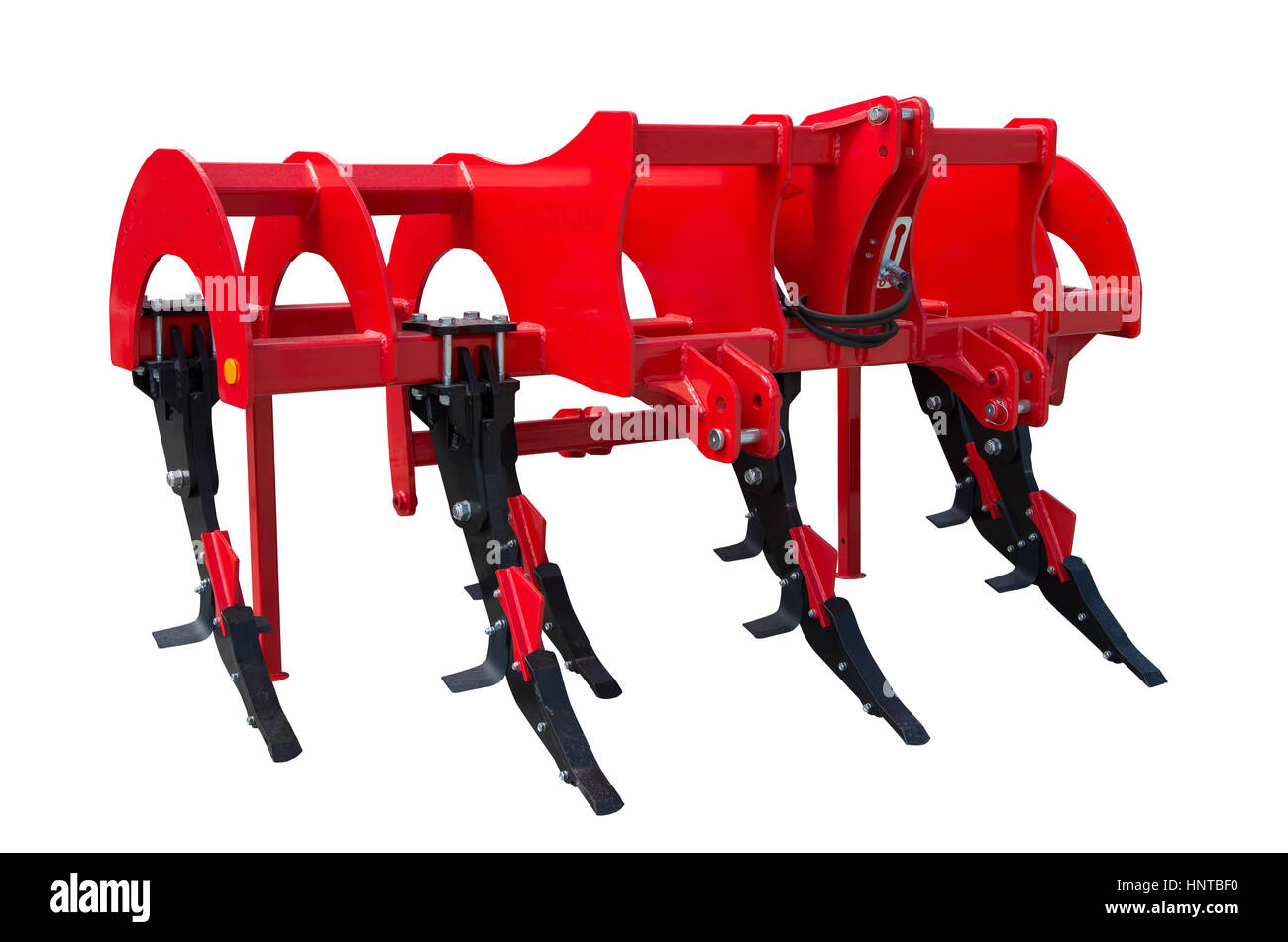 Subsoiler or flat lifter is a tractor mounted farm implement. - Stock Image