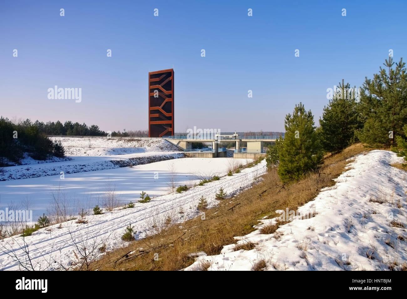 Rostiger Nagel im Winter, Lausitzer Seenland - rustier nail in Stock ...