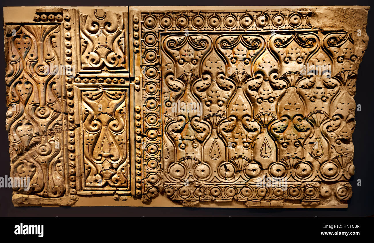 Samarra stucco Iraq, Residence of the caliphs 221-279 H/836-892 AD ( Expedition of 1911-1913 led by Friedrich Sarre Stock Photo