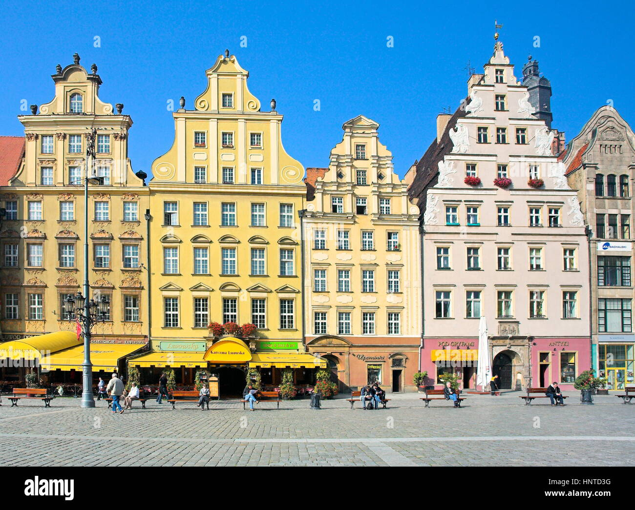 Old Town in Wroclaw, Poland Stock Photo